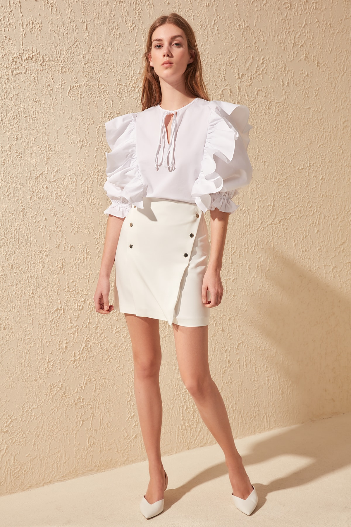 Trendyol Button Detail Skirt TWOSS20ET0243