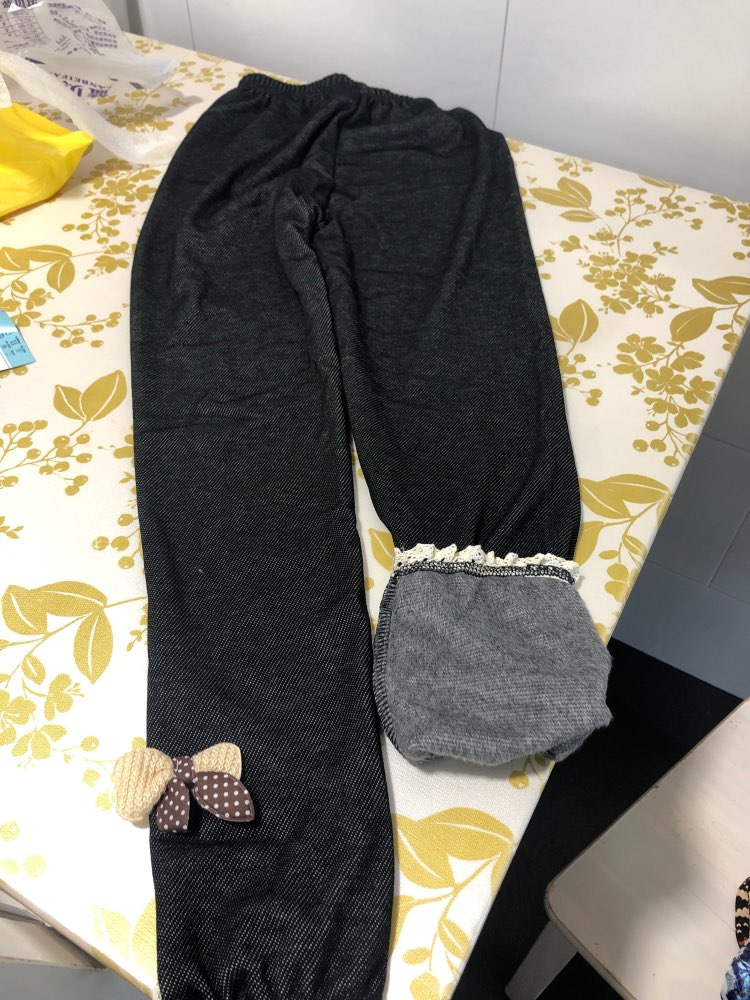 New thick warm winter spring Jean pants Bow Girls Leggings Kids trousers children  icing leggings|Pants|   - AliExpress