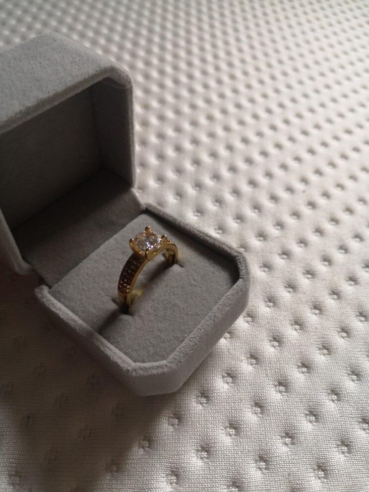 Bague Solitaire 2 carat plaqué or jaune 18k pour femme