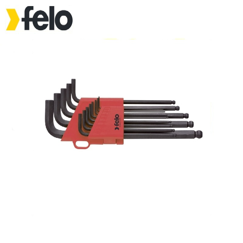 Felo Set of hex keys with ball ending 13 pcs 37513001  Allen wrench Used with headless screws Rozhkovy, cap, combined keys