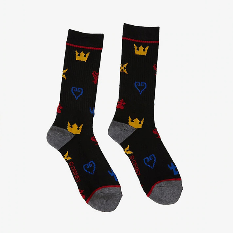 DISNEY KINGDOM HEARTS SYMBOLS CREW SOCKS