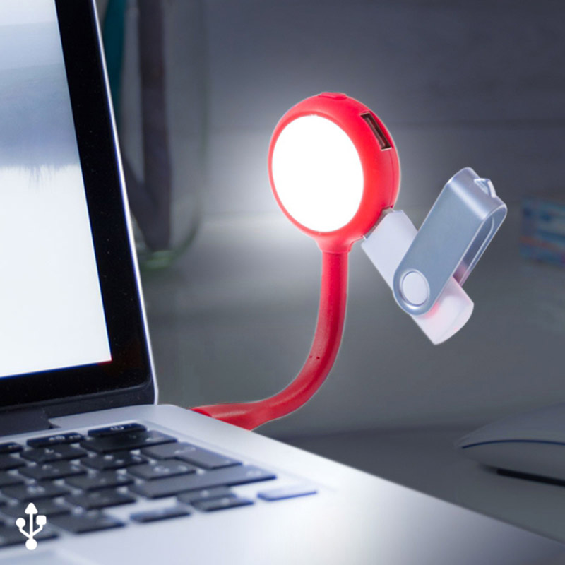 LED Lamp With 4 USB Port Accessory For Laptop Computer Extender USB Plug