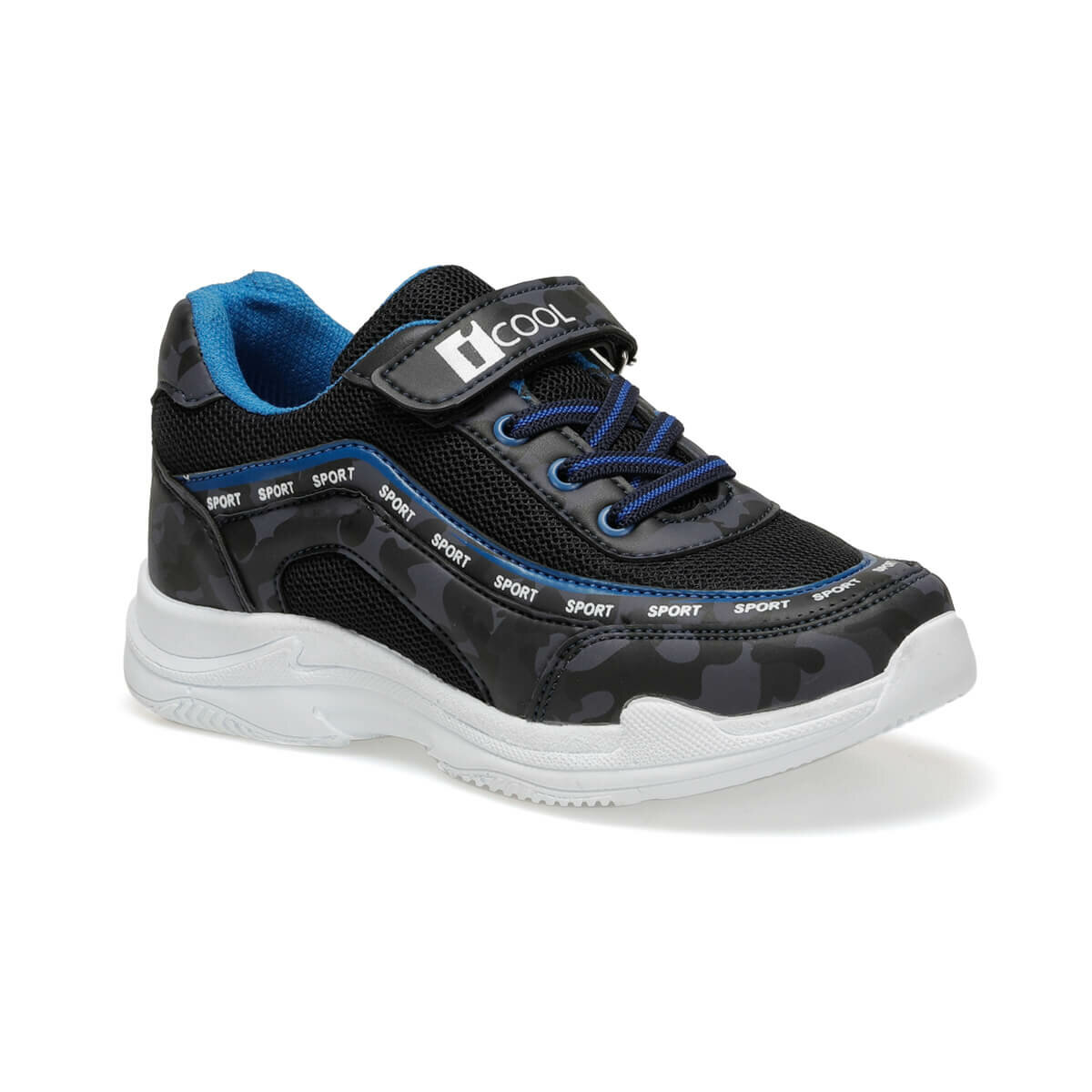FLO CHUNKY Black Male Child Hiking Shoes I-Cool