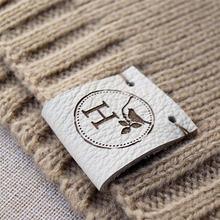 55 шт заказ этикетка ручной работы с логотипом бренда сшитая