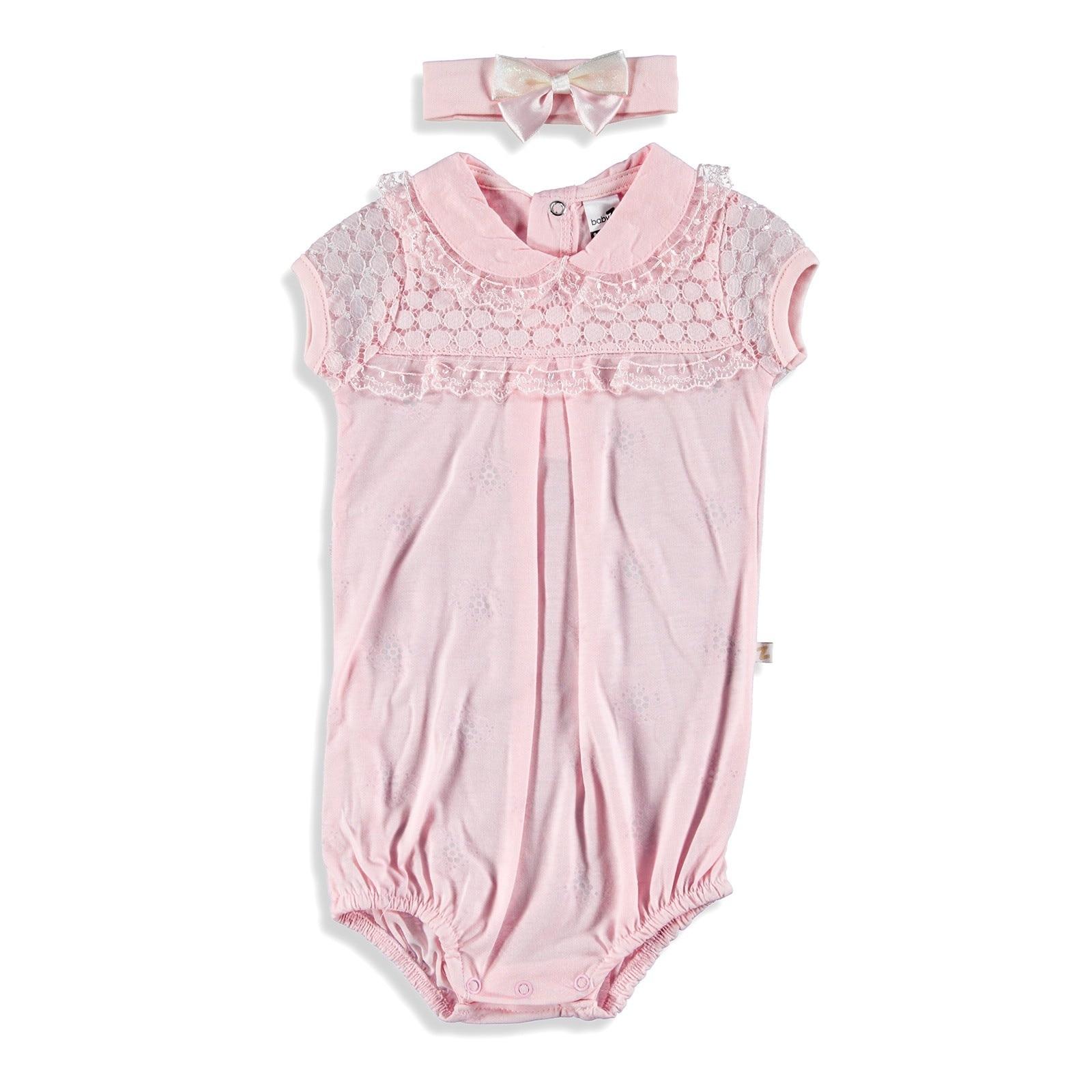 Ebebek BabyZ Lacy Detailed Baby Girl Bodysuit