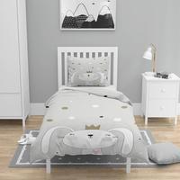 Else 4 Pcs Gray Yellow Stars Prince Rabbit 3D Print Cotton Satin Chidren Kids Duvet Cover Bedding Set Pillow Case Bed Sheet|Duvet Cover| |  -