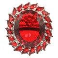 26x2 4mm 2019 Neue Ankunft Erstellt Rot Blut Rubin Gfit Für frau Silber Ringe-in Ringe aus Schmuck und Accessoires bei