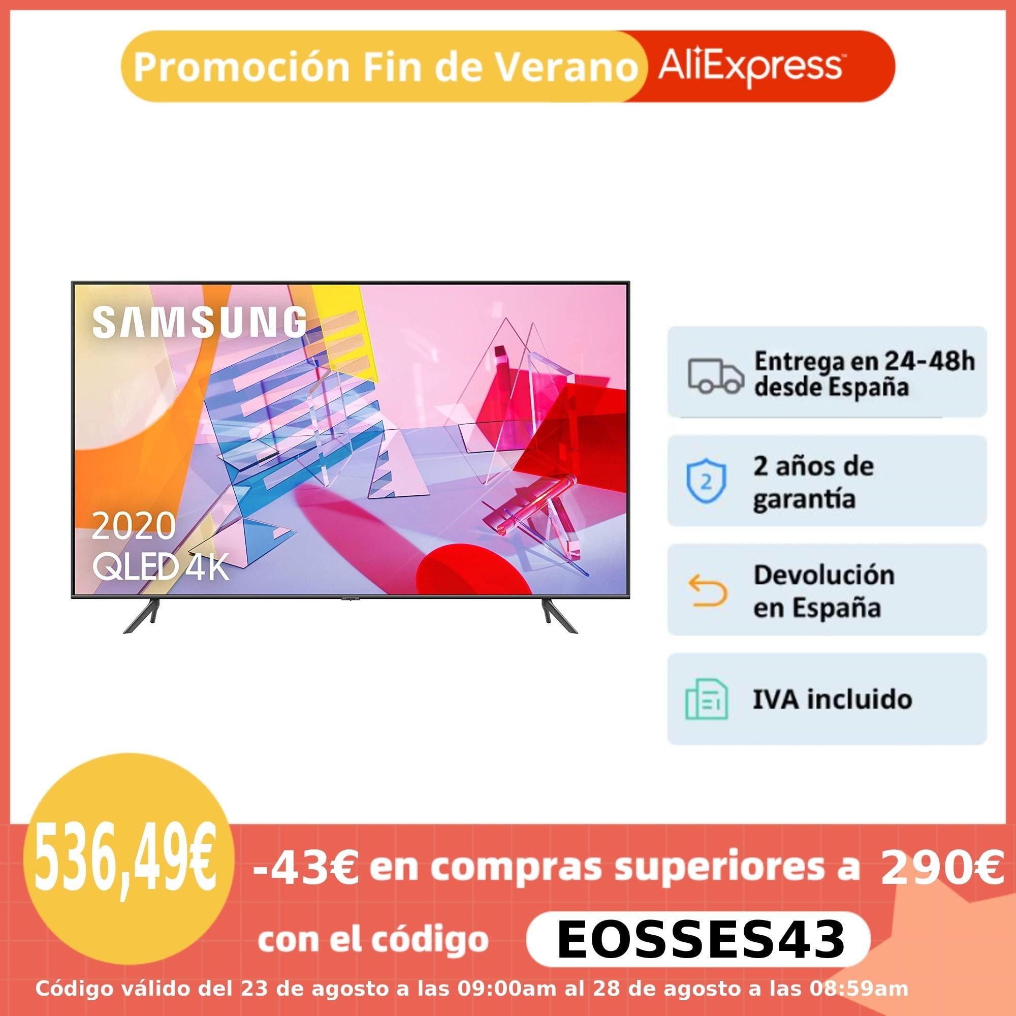 "Samsung Q64T, Q60R y Q60T, Smart TV QLED, televisión 43, 50, 55 y 65"", 4K, Quantum dot,HDR, asistente por voz, Quantum Lite|Smart TV| - AliExpress"