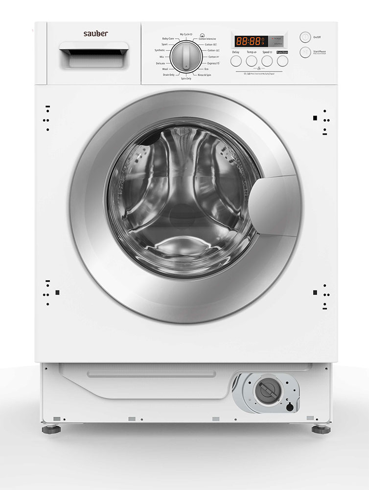 Washing Machine Integrable Sauber Wmb1 A +++ 8 Kg A +++ 1400 Rpm