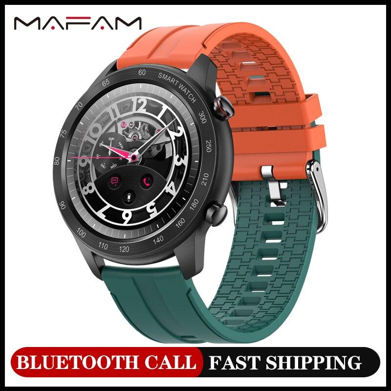 MAFAM MX5 Bluetooth Смарт-часы с вызовом для мужчин 1,3 дюйма пользовательский циферблат фитнес-трекер IP68 Водонепроницаемые Смарт-часы для женщин для...