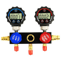 Elitech DMG 1 AC Manifold Gauge Set 2 Way Fits R134A R410A and R22 Refrigerants with Hoses Coupler Adapters+ Carrying Case
