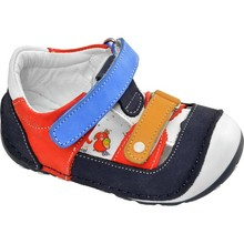 Captain Junior FIRST Step Leather Male Baby Shoes White Navy Blue Red Antibacterial Orthopedic Soft Light Flexible Non-Slip