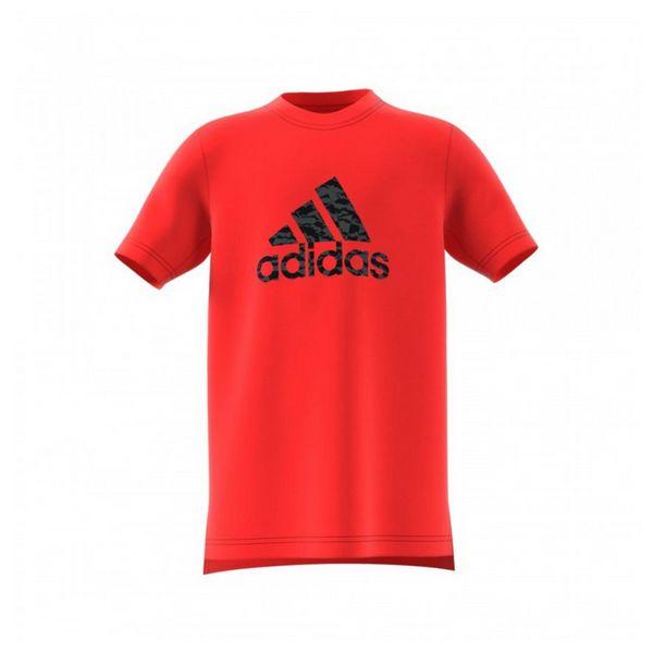Children's Short Sleeve T-Shirt Adidas YB Prime Log TE Red