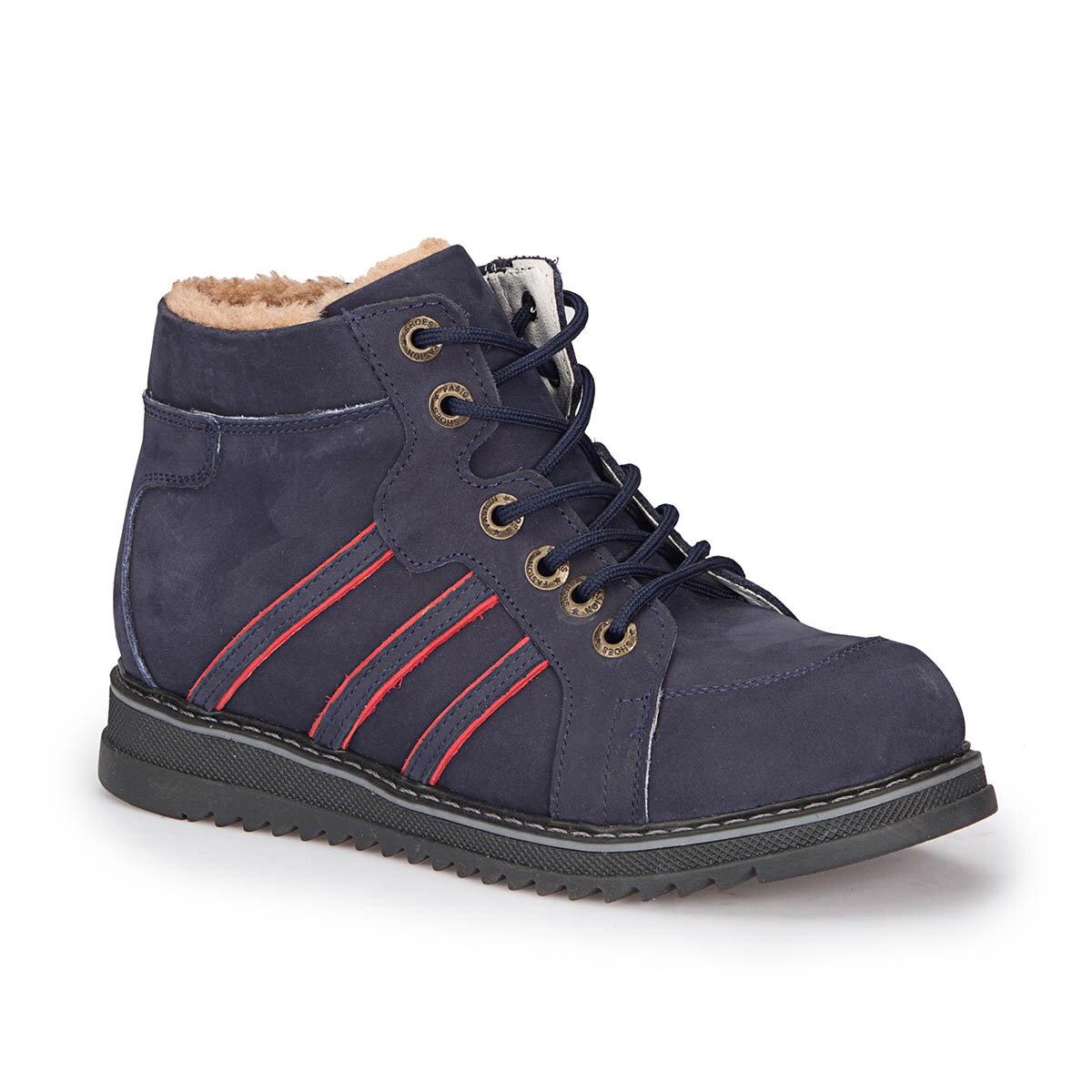 FLO 72.509761.F Navy Blue Male Child Sneaker Shoes Polaris Boots     - title=