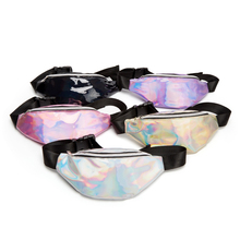 Women Fanny Pack Belt Bag Shiny Neon Laser Hologram Waist Bags Travel Shoulder Party Rave Hip Bum fashion Holographic
