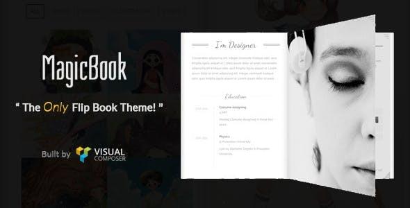 【WordPress】MAGICBOOK 3D翻书特效主题破解开心版下载-WEBCANG-WEB仓