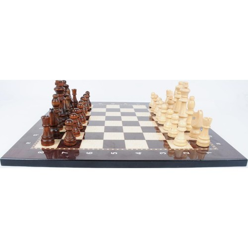 Lux haut Grade raffiné en bois pliant grand jeu d'échecs dames en bois massif érable échiquier divertissement jeu de société enfants cadeau 4