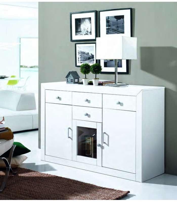 Dresser 3 Doors For Living Room Hallway Or Kitchen White