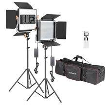 Neewer 480 conduziu a iluminação video da fotografia da luz, painel conduzido com tela lcd, controle remoto sem fio de 2.4g para a fotografia do produto plugue do reino unido