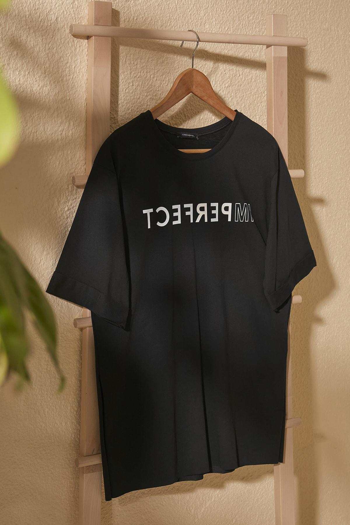 Trendyol Printed Asymmetrical Knitted T-Shirt TWOSS20TS1547