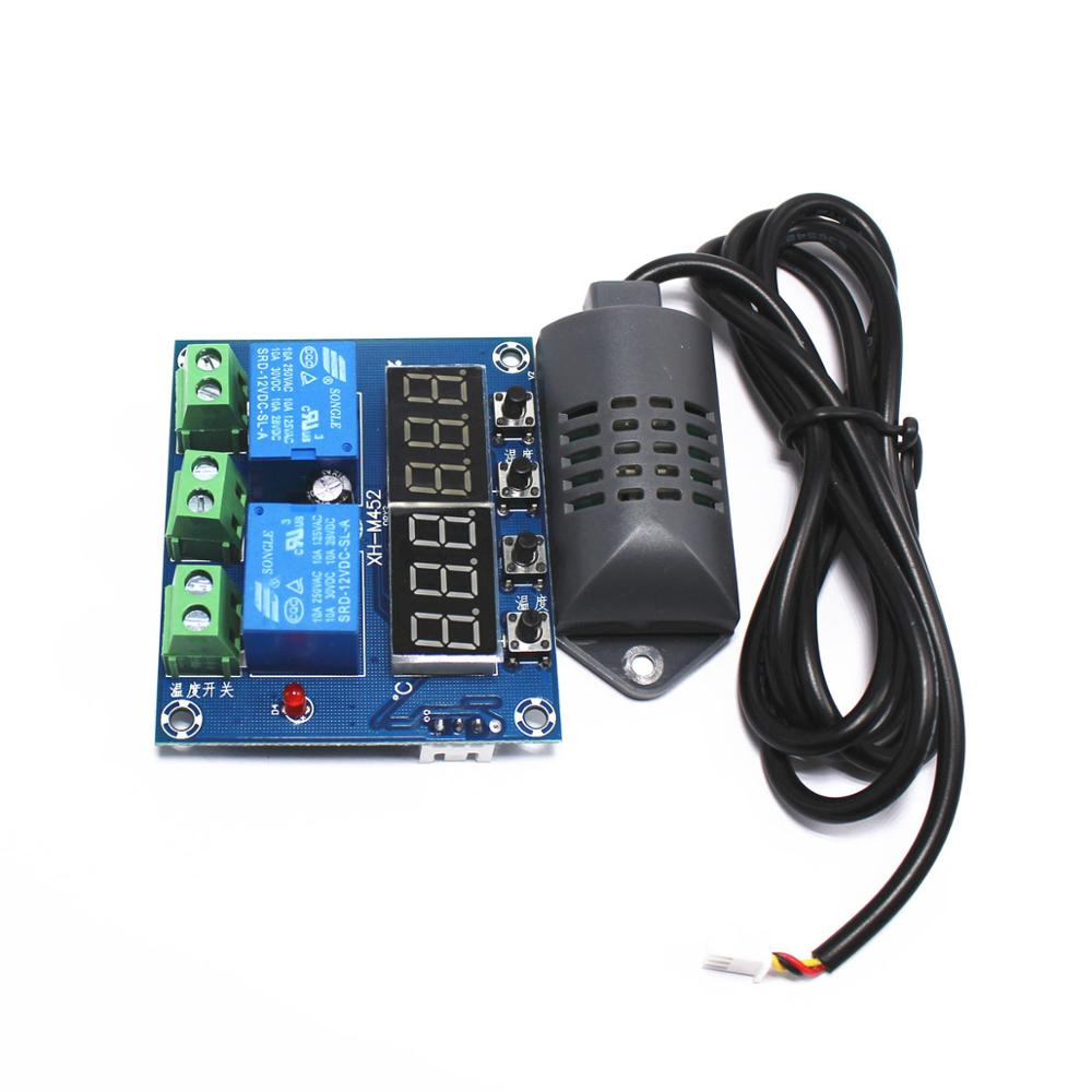 Taidacent Temperature Humidity Controller Dual Relay Out Auto Constant Digital Temperature And Humidity Controller Board XH-M452