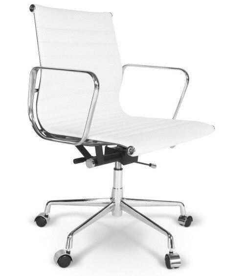 Office Armchair BEKES, Rotatable, Gas, Tilt, Similpiel White