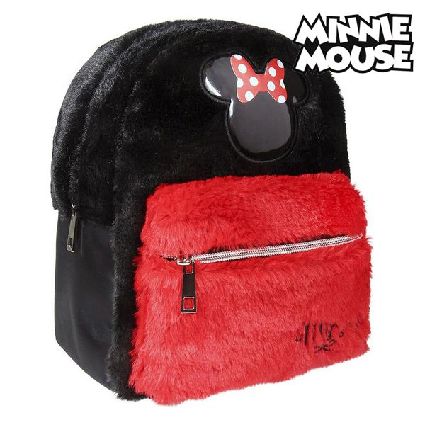 Casual Backpack Minnie Mouse Black Red