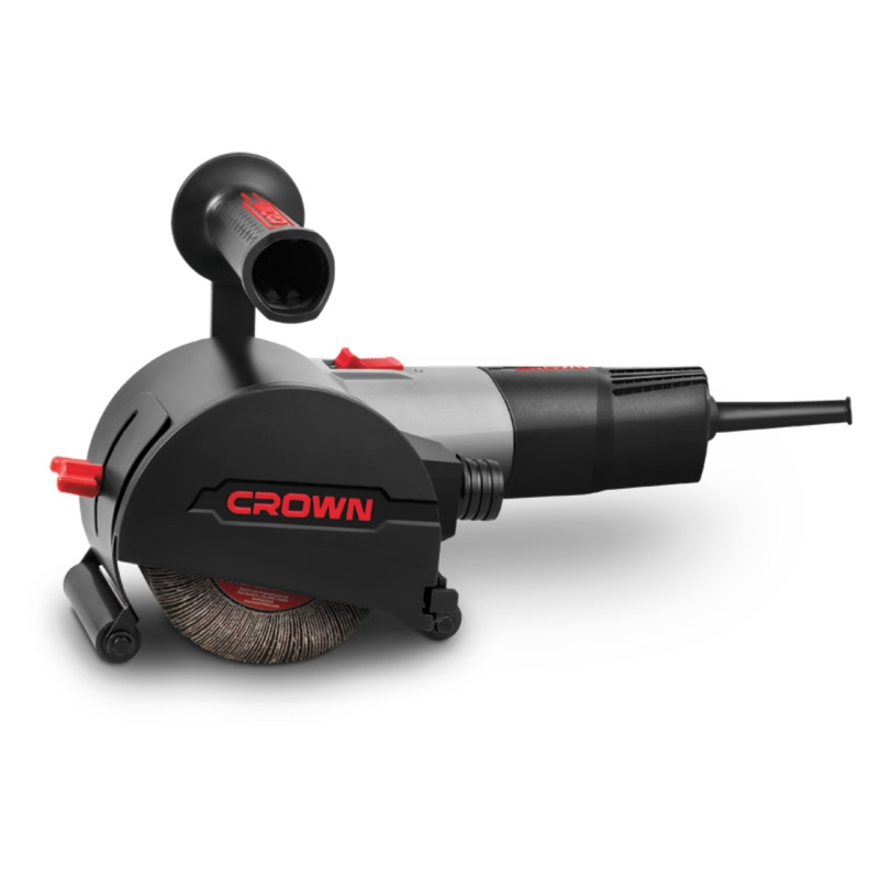Grinding machine brush CROWN CT13551-110RSV (Power 1400 W, speed adjustment, brush diameter 110mm) brush power tube pk10