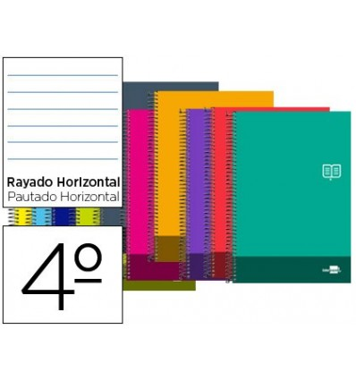SPIRAL NOTEBOOK LEADERPAPER ROOM DISCOVER SOFTCOVER 80H 80GSM HORIZONTAL STRIPED MARGIN COLORS