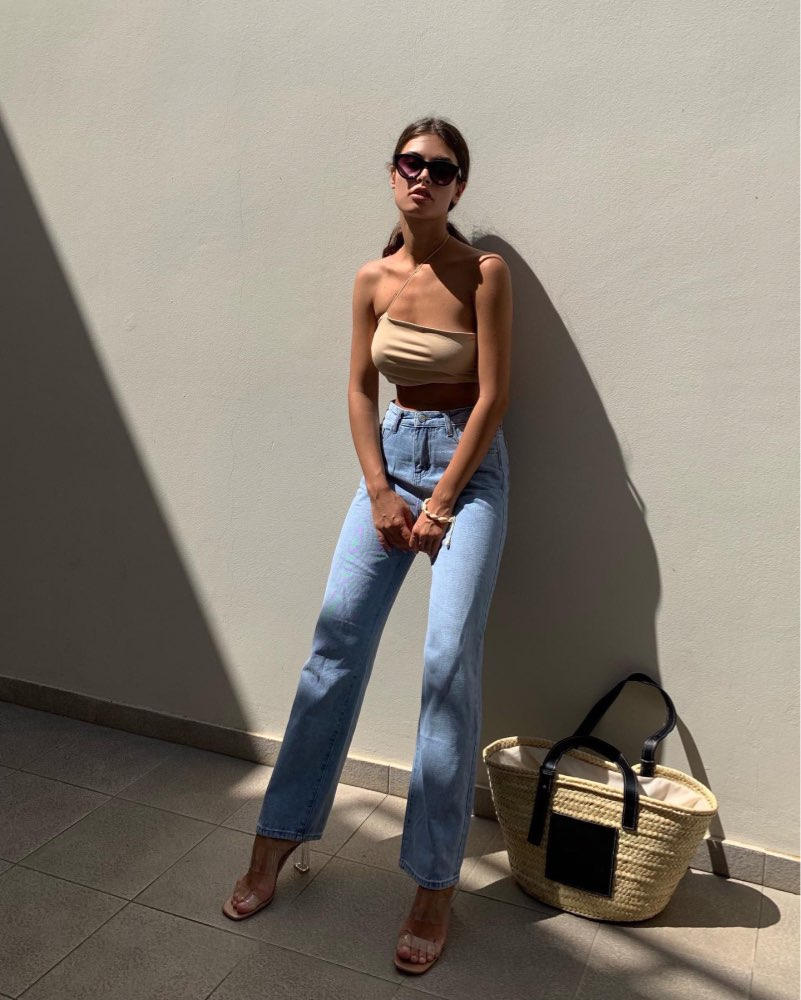 Jeans Women Leisure Loose High Waist Retro Wide Leg Womens Jean Korean Style All Match Simple Full Length Trendy Chic Zipper Fly photo review