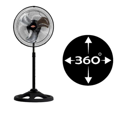 Stand Fan Desktop METAL 65W 12 ''inch Swivel 360 Swing