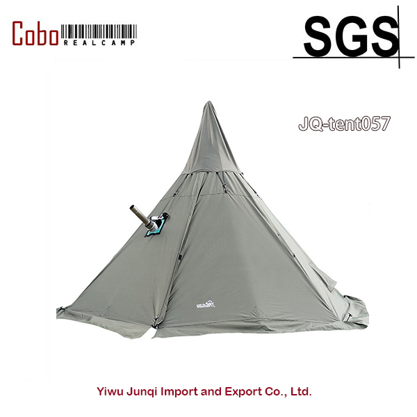 Tent for Winter Canvas Teepee Tent With Wood Stove Jack For Cold Weather For 3 4 Person 134x134x94 inch