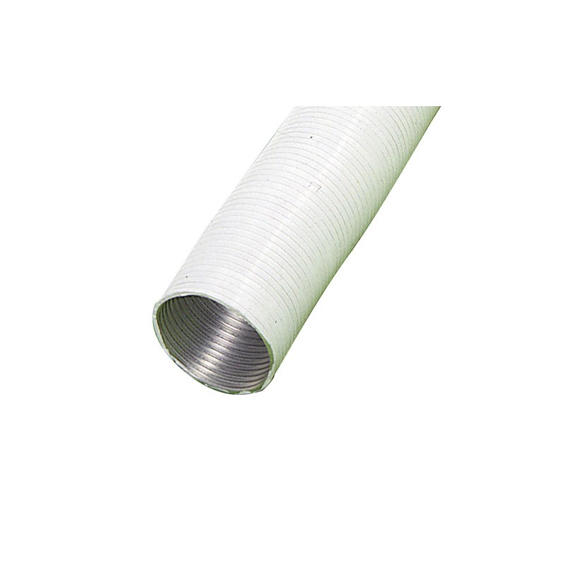 Aluminum Tube White Compact Ø 100mm./5 Meters