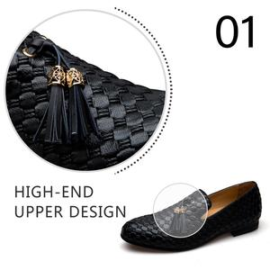 Image 2 - MEIJIANA Genuine Leather Men Loafers Shoes Fashion BV Breathable Comfortable Men Loafers Luxury Mens Flats Men Casual Shoes
