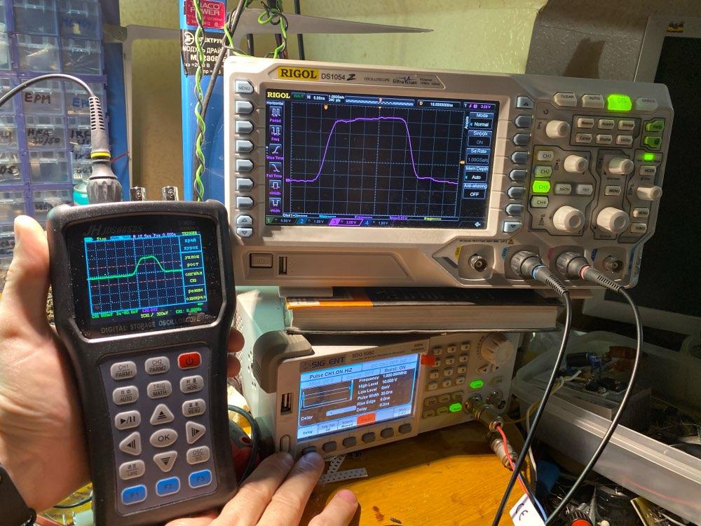 Osciloscopio JDS6052S portátil 20 MHz, generador de función de señal, osciloscopio de entrada CD/AC photo review
