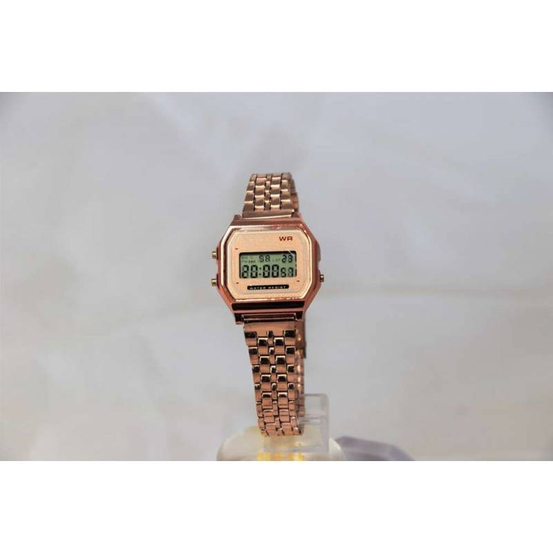 Digital Watch Retro Bronze