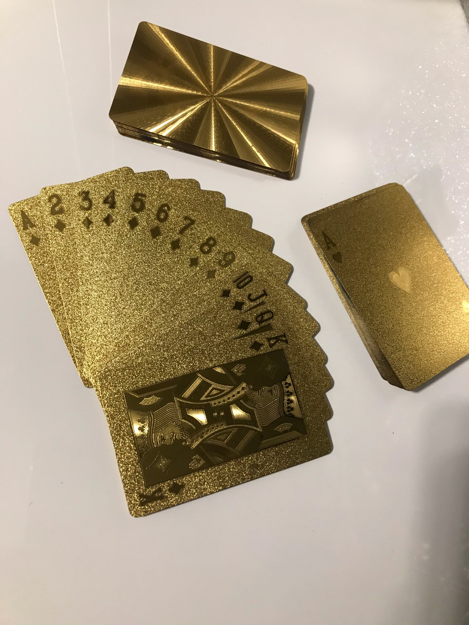 Gold Waterproof Poker Card photo review