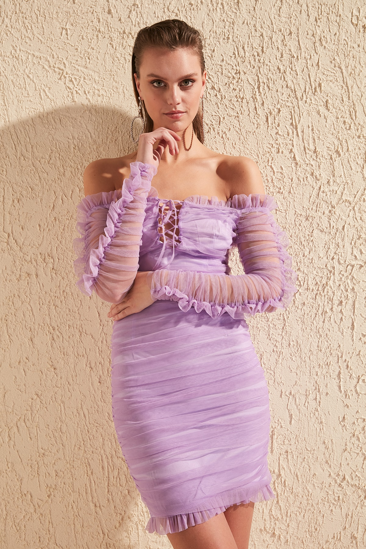 Trendyol Drape Detail Dress TPRSS20EL0800