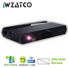WZATCO Full HD 1080P MAX 4K mini dlp projektör 200 inç akıllı Android WIFI ev sineması Beamer 3LED Video lazer projektör H96 Max