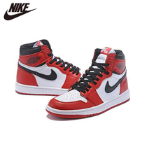 Basketball-Shoes AJ Air-Jordan-1 Nike Womans-Size Womens 1-Chicago New Red Mid-Top Comfortable