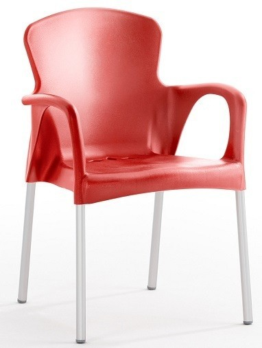 Armchair SEINE Stackable Polypropylene Network *