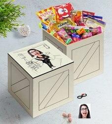 Personalized Women 'S Underwear Architect Caricature Of In Wooden Box Nostalgic Lezzetler Gift Seti-1