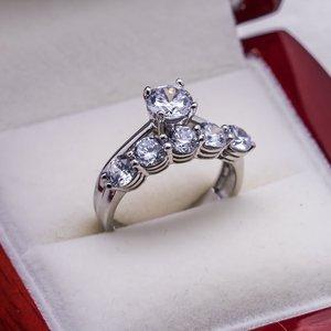 925 пробы Серебряное циркониевое Обручальное кольцо 3