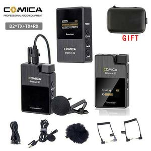 Comica BoomX Boom XD 2.4G Digital Wireless Microphone Transmitter Kit Mini Cellphone Microphone Receiver video mic(China)