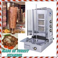 Rotativa automática 3 queimador de gás comercial vertical franja shawarma giroscópio doner churrasco kebab tacos al pastor grill trompo máquina|Grelha de churrasco| |  -