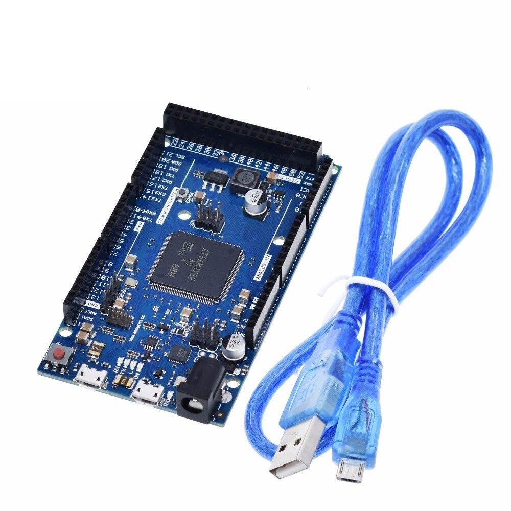 Oficial Compatível DEVIDO R3 Placa SAM3X8E 32-bit ARM Cortex-M3 / Mega2560 R3 Duemilanove 2013 Para Placa Arduino Devido com Cabo