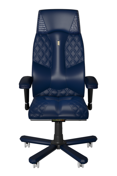 Office Chair KULIK SYSTEM CROCO Blue Elite Ergonomic Chair High Quality Material New Technology Comfort