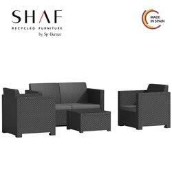 SHAF - Set EVO komfort in farbe anthrazit-Ideal für thy terrasse garten Set jedem innenraum