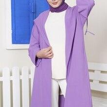 Cardigans Shirts Tunic Womens Long-Sleeve Casual Cotton Ramadan Patchwork Female Vintage