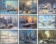 الشتاء حكاية مجموعة عد عبر عدة خياطة اليدوية الإبرة للتطريز 14 ct عبر الابره مجموعات DMC اللون
